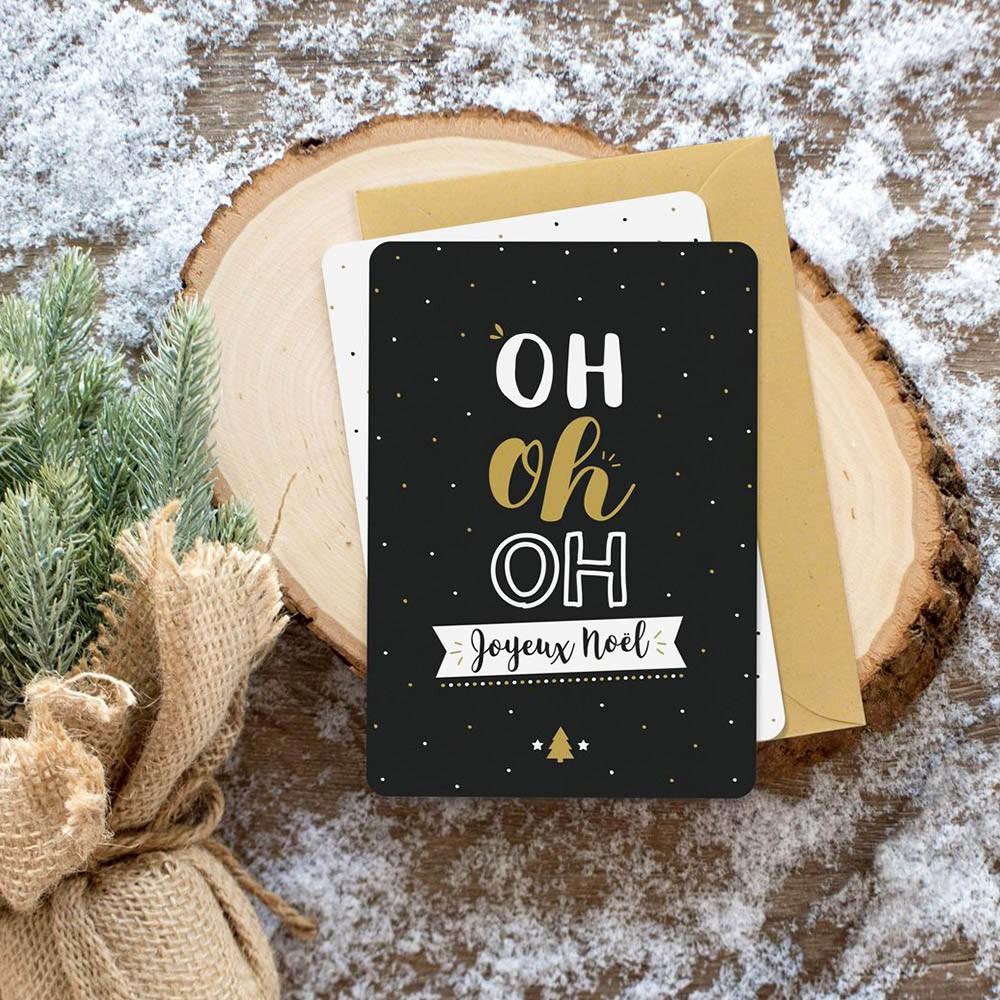 Carte de Vœux Noël, idée cadeau homme & femme