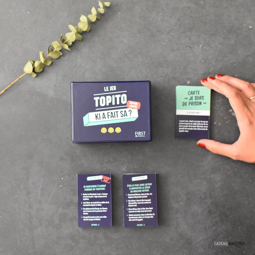 Topito Idée Cadeau Le Jeu de Cartes Topito Ki a Fait Sa?, idée cadeau homme & femme